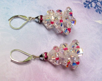 Christmas Tree Earrings, Swarovski Earrings, Christmas Earrings, Holiday Earrings, Statement Earrings, Tree Earrings, Christmas Jewelry