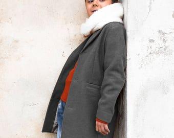 Winter coat for boys/ Classic wool coat/ Grey pea coat/ Kids long coat/ Long down Toddler boy coat/ Back to School/ Blue coat/ Black coat