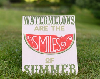 Watermelon Sign - Watermelon Birthday Party - Summer Sign - Summer Decor - 4th of July - Americana - America - Picnic Sign - Home Decor