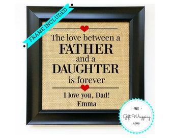 FRAME INCLUDED Father's Day Gift Fathers Day Gifts from Daughter Group Daughters Children Gift for Dad Father Present Unique Gift Ideas