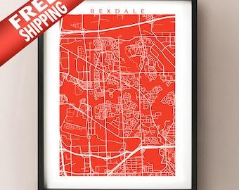 Rexdale Map Print - Toronto Poster