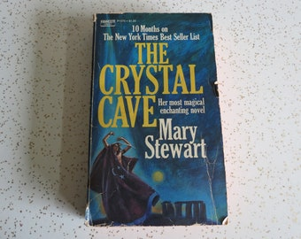 The Crystal Cave by Mary Stewart, Vintage 1971 Fawcett Crest Fantasy Fiction Paperback Novel Book