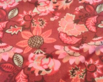 SALE***Red Floral Fleece Blanket