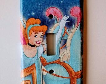 Cinderella single light switch plate