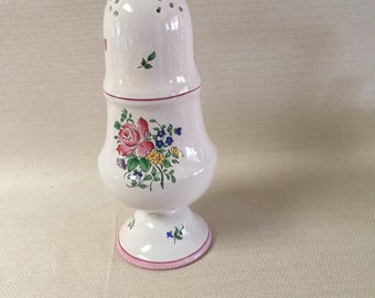 K G Luneville France  Old Strasbourg Pink Rose Cheese Sugar Shaker