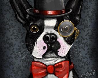 "Boston Terrier Proper (8"" x 10"")"