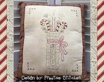 Basket of Canes-Primitive Stitchery  E-PATTERN by Primitive Stitches-Instant Download