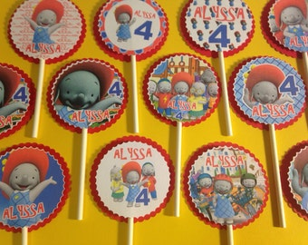 Ella The Elephant Cupcake Toppers