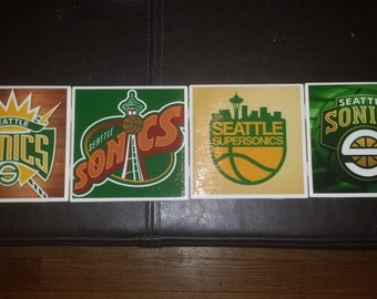 Seattle Sonics Coasters Black Price Reduced!