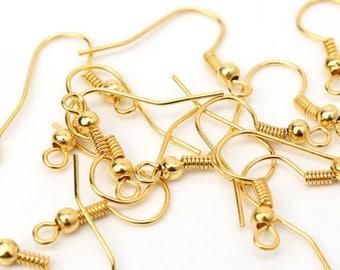 20 20 MM gold earring hooks.