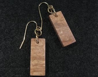 Maple Burl Earrings