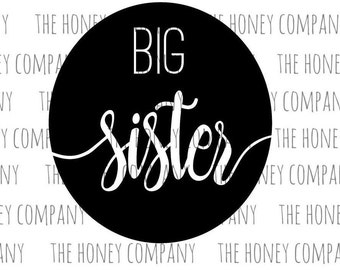 Big Sister SVG PNG DXF Instant Download Silhouette Cricut Cut Files Cutting Machine String Art Template Vector File
