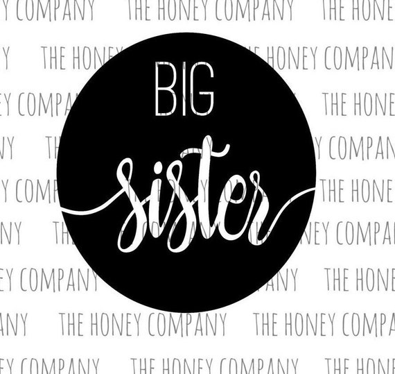 Big Sister SVG PNG DXF Instant Download Silhouette Cricut Cut Files ...