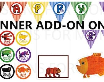 Brown Bear *digital* birthday package banner ***add-on***  custom name