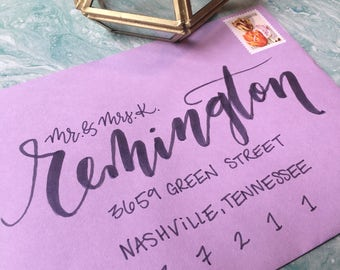 Envelope Calligraphy, Wedding Calligraphy, Handwritten Envelope Addressing, Calligrapher, Brush Lettering, Wedding Calligraphy Services