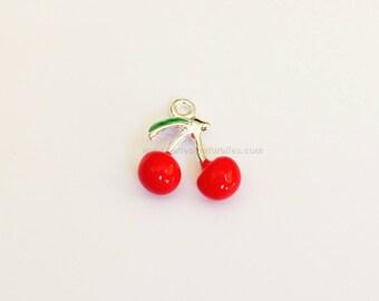 16mm - 1 Cherry Charm pendant charm