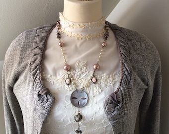 Repurposed Necklace - Vintage-style Necklace