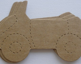 4 CAR - Raw Alterable CHiPBOARD Bare Die Cuts