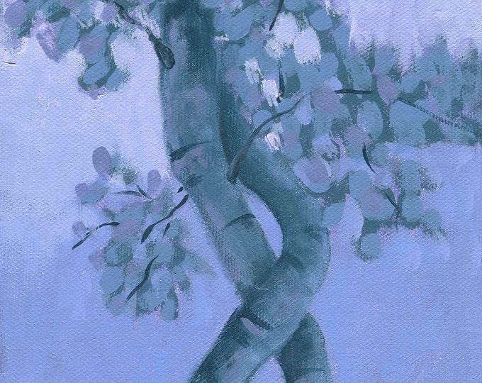 Tree Study at Dusk greeting card blank