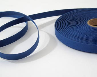 "Royal Blue Cotton Twill Tape Trim- 5/8"" wide - 5 yards - Sewing Trim Supplies - Woven Flat Tape Sewing Trim for Decoration, Ribbon, Sewing"