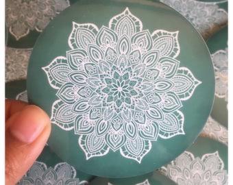 Marble Mandala Circle Sticker