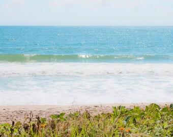 Beach wall art Ocean Waves photograph Digital Download Coastal Art Beach decor Seashore Seascape photo Water Photography blue sea wall art