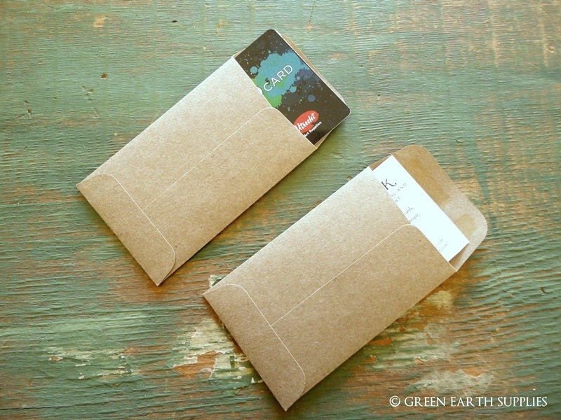 50 Mini Seed Packet Envelopes, Kraft Brown, Business Card, mini coin ...