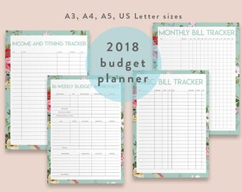 Financial Planner, Budget Planner PRINTABLE, Finance Planner, A5, Letter, A4, A3 Money Planning, Monthly Saving, Expense Tracker, Debt