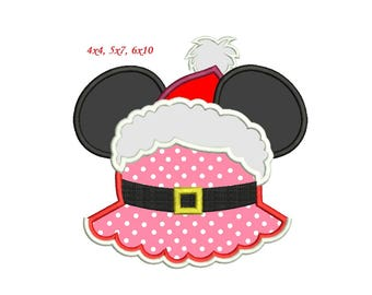 Christmas Minnie Applique Design - 5 sizes Minnie Mouse Christmas Applique  sc 1 st  Etsy & Christmas minnie | Etsy