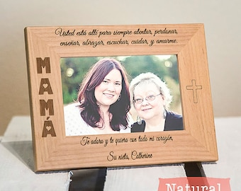 Personalized Picture Frame for Mom - Spanish Picture Frame - Christmas Gift for Mom - Mother's Day Gift for Mom - Present for Mom