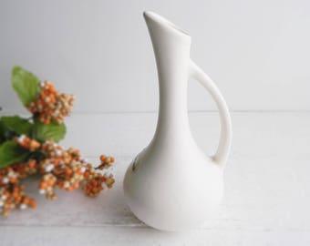Vintage Royal Haeger Pitcher Vase - White Mid Century Modern Jug Vessel