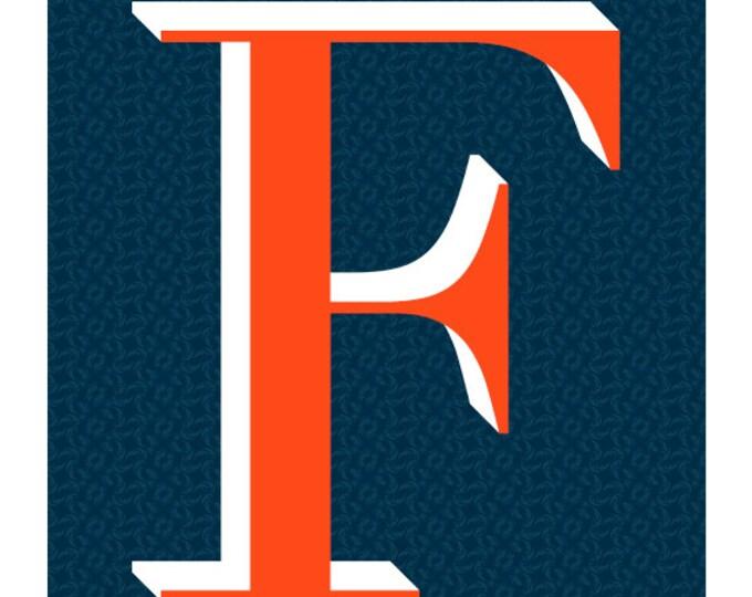 The Letter F, Original Art Print, Typography, Alphabet