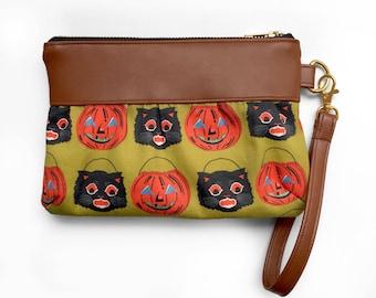 Halloween wristlet, wristlet, clutch, diaper bag wristlet, coin purse, pouch