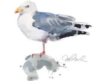 "Seagull, Giclee Print, 9x12"""