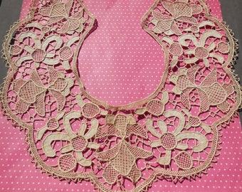 Antique Lace Vintage Lace Trim Needle Lace Collar Cuffs Set