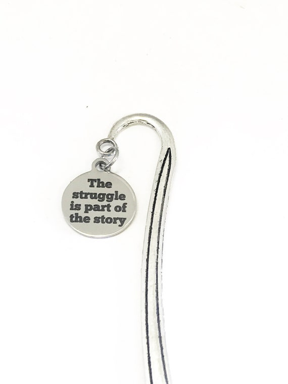 Planner Charm, The Struggle Is Part Of The Journey Charm, Bible Bookmark, Charm Bookmark, Planner Bookmark, Planner Vision Board Gift