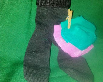 Barbie sized items: 2 pair under panties and one pair of black tights