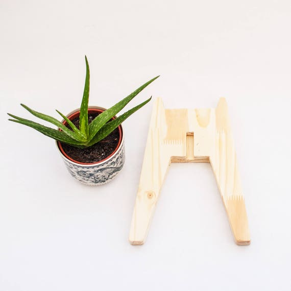 Soporte para macetas madera natural peana macetero de