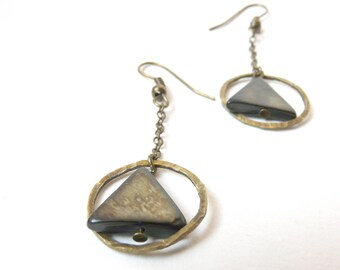 Geometric black, magical earrings