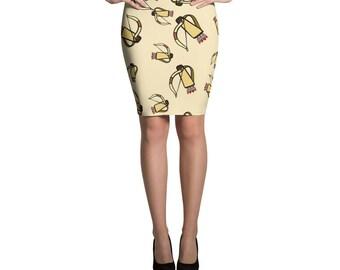 Arrow Bow Pencil Skirt