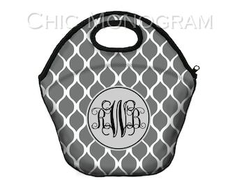 Insulated Lunch Bag Monogram Lunch Box Lunch Tote Personalized Lunchbox For Women Birthday Gifts for Coworkers Lunch Bag Monogrammed Gifts