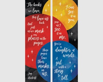 Daughter of Words | Set of 2 Bookmarks
