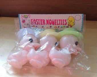 Vintage plastic Easter Ducks