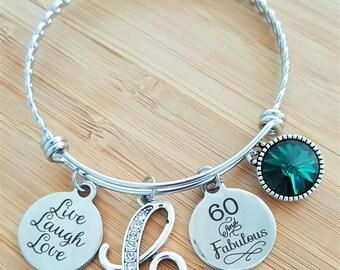 60 Birthday Gifts 60th Birthday Gift Birthday Gift Birthday Gifts for Her Birthday Gift for Friend Birthday Gifts for Bestfriend 60 Fabulous