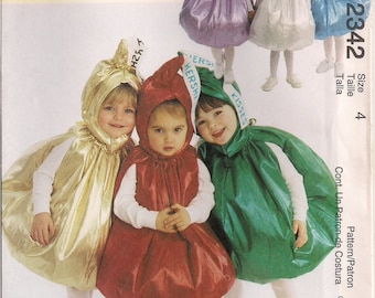 McCall's Costume Sewing Pattern 2342 - Toddler's Hershey's Kisses Costumes (Size 4)