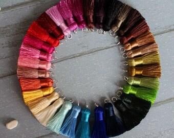 4 Pcs High Quality Fashion Jewelry Accessories DIY Handmade Sector Tassel Charm / Pendant (DT040)