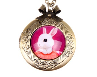 Necklace locket Rabbit bunny 2020m
