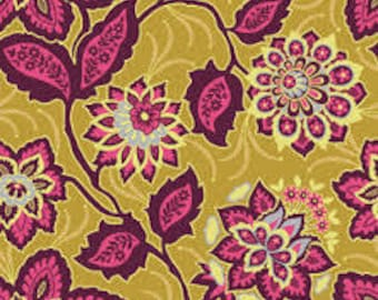 HEIRLOOM by Joel Dewberry - Fabric - Ornate Floral in Garnet - Free Spirit - Quilting - Sewing - Home Decor - Crafting - Westminster