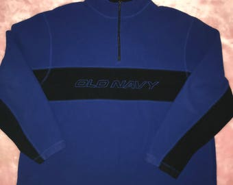 Vintage 90s Y2K Old Navy Fleece Sweater XXL