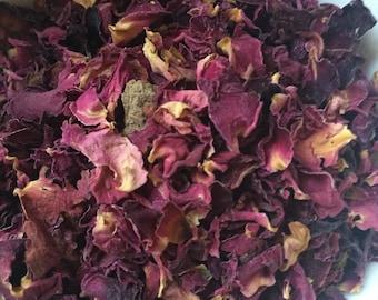 Organic rose petals, 30g, bath ingredient, beauty product ingredient, natural, dried rose petals